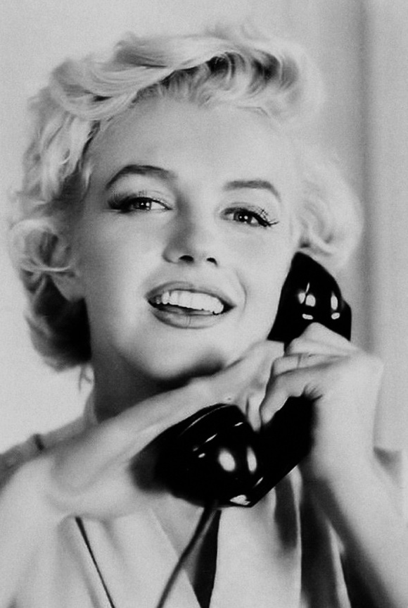 on the phone marilyn